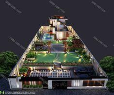 طراحی-و-ساخت-ویلا Modern Villa Design, Landscape Design Plans, Home And Garden, House Styles, Villas, Mansions