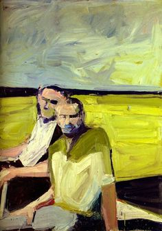 Paul Wonner (US 1920-2008)Untitled (Two Men at the Shore), 1960