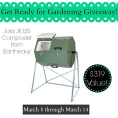 Get Your's! The Jora JK125 composter has a rodent-proof, rust-free, galvanized steel exterior, an insulated interior which makes it great for all climate types