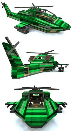 The Apache helicopter playhouse with a nice camo paint job.  Download the woodworking plan at paulsplayhouses.com.