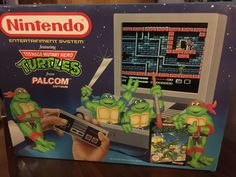 Teenage Mutant Hero Turtles TMNT Nintendo NES UK Console Pack Xmas 1990 Mattel