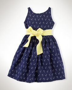Anchor Dress - Girls 2-6X Dresses & Skirts - RalphLauren.com