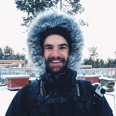 #tb to when I got my beard frozen after husky riding at -15C. #husky #Finland #winter #cold #beard