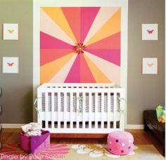 diy wall treatment ideas, home decor, paint colors, wall decor Orange Nursery, Nursery Neutral, Diy Wall, Wall Decor, Paint Your House, Focal Wall, Nursery Inspiration, Nursery Ideas, Interior Inspiration