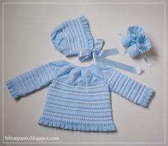"Conjunto de bebé ""dulce"" en azul"