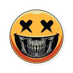 😁💀Smiley Skull Sticker💀😁from 🤯🧠 🧠🤯 Dope Cartoon Art, Dope Cartoons, Drawing Sketches, Art Drawings, Photographie Street Art, Gas Mask Art, Drugs Art, Cool Emoji, Graffiti Wallpaper