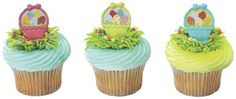 12 Easter basket Cupcake / Cake Topper Rings by BigCatCrafts, $2.50