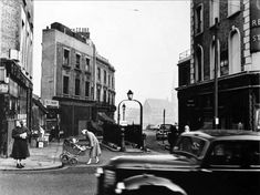 Roger Mayne - Harrow Road, Looking to cleared area and church