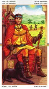 King of Wands - The Wheel of the Year Tarot is one of my favorite decks to recommend to newbie #tarot readers.
