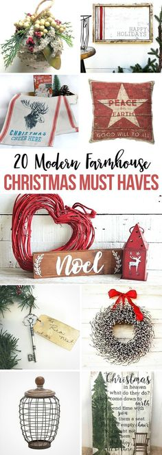20 Modern Farmhouse Christmas Must Haves to get or give this holiday season! Christmas | fixer upper | modern farmhouse | winter | decor | gifts