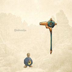 No. 524 - Roggenrola. #pokemon #roggenrola #hammer #pokeapon