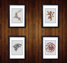 Game Of Thrones Minimalist Photo Prints   4 x 6   5 x 7   8 x 10