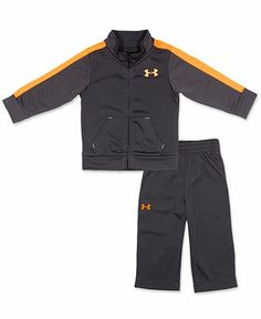 Under Armour Baby Set, Baby Boys 2-Piece Tricot Jacket and Pants - Kids Baby Boy (0-24 months) - Macy's