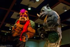 Beepob and Rocksteady from TMNT