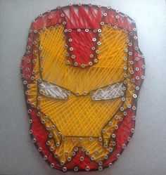 Iron Man String Art by stencilstringart on Etsy, £20.00