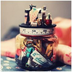 The nicest sewing-kit-in-a-jar tutorial that I've seen: http://boredandcrafty.com/?tag=sewing-jar-kit