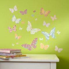 The Land of Nod | Just a Butterfly on the Wall Decal in Wall Decals