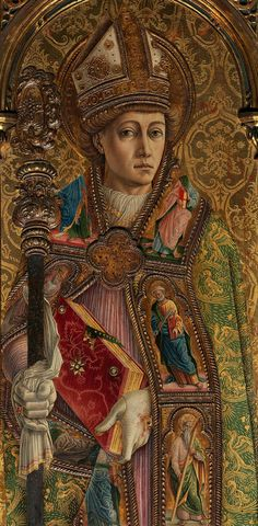 detail from the Altarpiece of St. Emidio by Carlo Crivelli