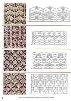 "Photo from album ""temmp ch 2 on Yandex. Crochet Stitches Chart, Knitting Stiches, Granny Square Crochet Pattern, Crochet Motif, Irish Crochet, Crochet Patterns, Crochet Bowl, Square Patterns, Fabric Beads"