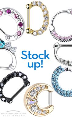 Move over, nose rings - Septum Clickers are here. The most popular piercing trend with the BEST jewelry. And even clip-ons! At discount prices, you can shop 'til you drop at BodyCandy! www.BodyCandy.com