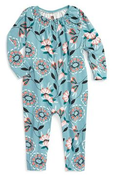 Tea Collection 'Malena' Print Cotton Romper (Baby Girls) available at #Nordstrom