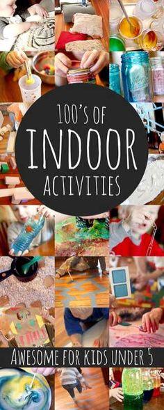 Hundreds of fun indoor activities for kids (awesome for kids under 5) via @handsonaswegrow