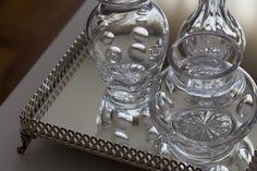vasos de cristal; Casa de Valentina