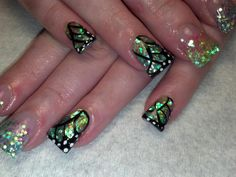 holiday fingernail designs | butterfly nail designs best nail art designs nails designs with ...