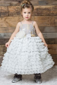 Magpie and Mabel Dahlia Ruffle Party Dress PREORDER $170.00