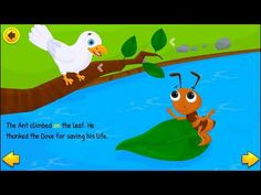 The Ant and The Dove // Best Short Stories for Kids in English English Moral Stories, Short Moral Stories, English Stories For Kids, English Grammar For Kids, Best Short Stories, English Story, Small Stories For Kids, Picture Story For Kids, Moral Stories For Kids