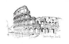 El croquis como método de representación esencial - Colosseo / Roma. Image © Sebastián Bayona Jaramillo http://www.archdaily.co/co/778682/el-croquis-como-metodo-de-representacion-esencial - (2000×1294)