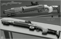 Concept of concept of sci fi shotgun for fictional scenario. Eclipse - concept of sci fi shotgun Sci Fi Weapons, Weapon Concept Art, Fantasy Weapons, Weapons Guns, Crossbow Targets, Crossbow Arrows, Bastard Sword, Combat Shotgun, Survival Weapons