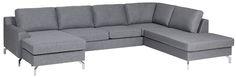 Er det på tide å fornye stua? Finn din nye sofa hos Fagmøbler; velg blant våre flotte modeller eller bygg din helt egen modulsofa.Freya  sofaStoff Rocco. Metallben