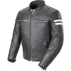 2015 Joe Rocket Street Riding Mens Classic '92 Black Leather Motorcycle Jacket