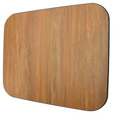 Laminate Chair Mat -Oak-42x46 Rectangle