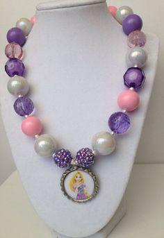 Rapunzel bottle cap necklace..chunky by GirlzNGlitter on Etsy, $17.50
