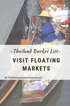 Thailand Bucket List, Visit Floating Market.