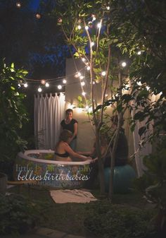 Beautiful home birth setting.  http://www.mobilehomerepairtips.com/howtohangoutdoorchristmaslights.php has some tips on how to hang Christmas lights on the outside of your home.
