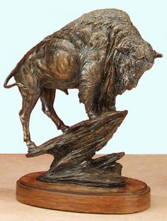 This rustic Bronze Buffalo Sculpture is the perfect gift for any wildlife lover…
