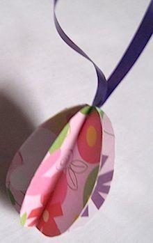 paper egg ornament