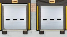 Find the best sectional ribbed steel door for your commercial needs. Available in insulated and non insulated varieties. Ideal in warehouses or loading docks. Commercial Garage Doors, Steel Doors, Outdoor Decor