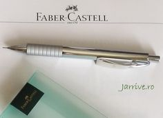 Faber Castell - Creion Mecanic Basic Metal Lucios (Mechanical pencil) www.Jarrive.ro