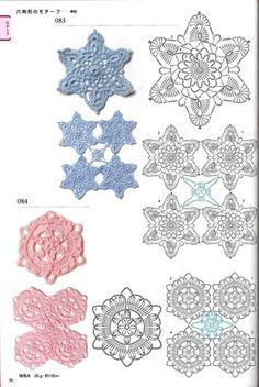 View album on Yandex. Crochet Edging Patterns, Crochet Diagram, Crochet Motif, Crochet Flowers, Flower Patterns, Stitch Patterns, Crochet Edgings, Crochet Squares, Crochet Granny