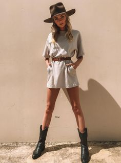 Ride or die mini dress from princess polly Outfits With Hats, Casual Outfits, Cute Outfits, Country Outfits, Western Outfits, Look Fashion, Fashion Outfits, Womens Fashion, Cowboy Boot Outfits