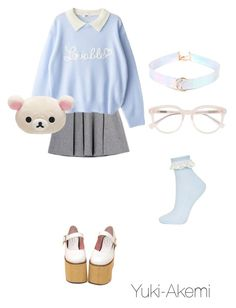 """Cutie"" by yuki-akemi ❤ liked on Polyvore featuring Topshop and Derek Lam"