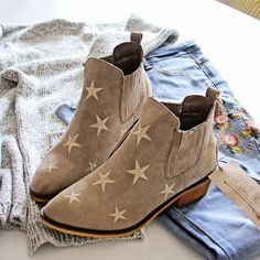 Starry Night Suede Boots: Alternate View #1