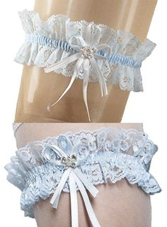 Elastic Bridal Wedding Lace Garter With Sparkling Crystals In BUTTERFLY Shape