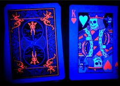Bicycle Black Light Playing Cards. $5