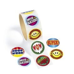 Motivational Stickers. Your students will love seeing these stickers on their homework or test papers. $2.49 per roll of 100 stickers. http://www.partypalooza.com/Merchant2/merchant.mvc?Screen=PROD&Product_Code=MotivateRollStickers