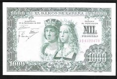 Mil 1000 Spanish Pesetas Banknote El Banco De Espana Spain Reyes Catolicos Fernao II De Aragon Isabel I De Castila Online Wallet, Foto Madrid, World Coins, People Of The World, Ephemera, History, Stamps, Micro Computer, Granada